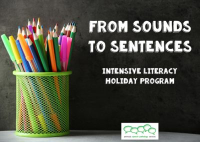 'Sounds to Sentences' – Literacy Program