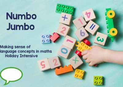 Numbo Jumbo – making sense of language concepts in maths